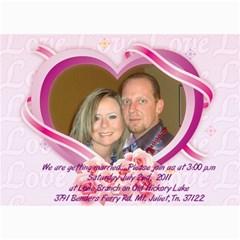 Wedding By Beth   5  X 7  Photo Cards   6j3x8s694q7k   Www Artscow Com 7 x5 Photo Card - 25