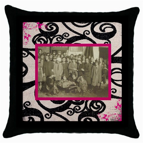 Past Times Throw Pillow By Catvinnat   Throw Pillow Case (black)   Sj6l7vez4f5k   Www Artscow Com Front