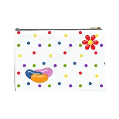 Jelly Bean Large Cosmetic Bag 1 By Lisa Minor   Cosmetic Bag (large)   J5hzwxzgxrmc   Www Artscow Com Back