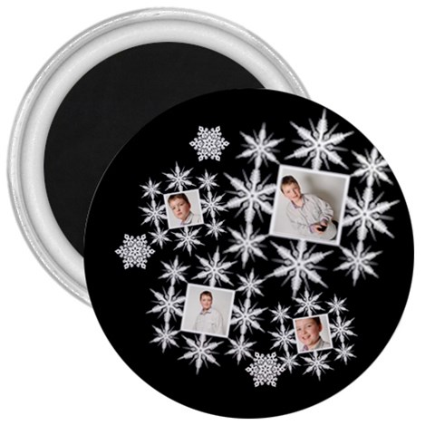 Snowflake 3 Inch Magnet By Catvinnat   3  Magnet   98kn9xe85pp5   Www Artscow Com Front