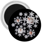 Snowflake 3 inch magnet - 3  Magnet