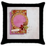 Fortune, Friends-Throw Pillow Case (Black)