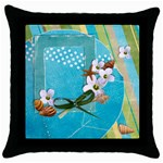 beach-Throw Pillow Case (Black)