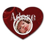 Adore Heart Shaped Mousepad - Heart Mousepad