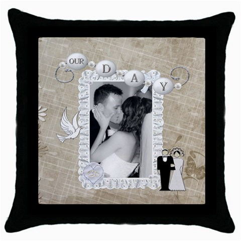 Our Day Throw Pillow Case By Lil    Throw Pillow Case (black)   X6ch33gd29o9   Www Artscow Com Front