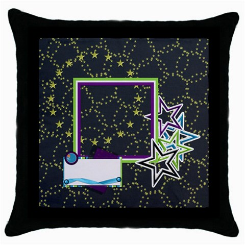 A Space Story Throw Pillow 1 By Lisa Minor   Throw Pillow Case (black)   X3bvkckx4ih4   Www Artscow Com Front