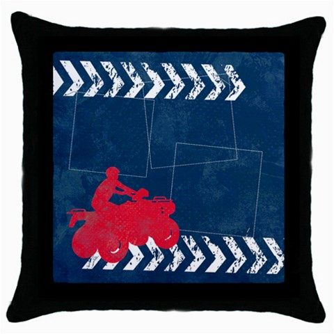4 Wheeling/extreme Throw Pillow Case (black)  By Mikki   Throw Pillow Case (black)   4992p1085si7   Www Artscow Com Front