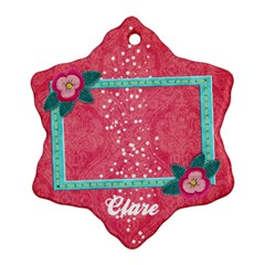 Poinsettia Custom Snowflake Ornament (two Sides)  By Mikki   Snowflake Ornament (two Sides)   5491sr5m902x   Www Artscow Com Front