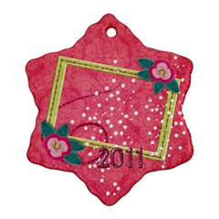 Poinsettia Custom Snowflake Ornament (two Sides)  By Mikki   Snowflake Ornament (two Sides)   5491sr5m902x   Www Artscow Com Back