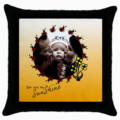 You Are My Sunshine   Pillow By Carmensita   Throw Pillow Case (black)   Ciar84jhpgi3   Www Artscow Com Front