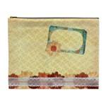 Floral Breeze-Custom Cosmetic Bag (XL)