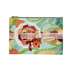 Floral Breeze Custom Cosmetic Bag (l)  By Mikki   Cosmetic Bag (large)   Xwqn0fzf8dke   Www Artscow Com Front