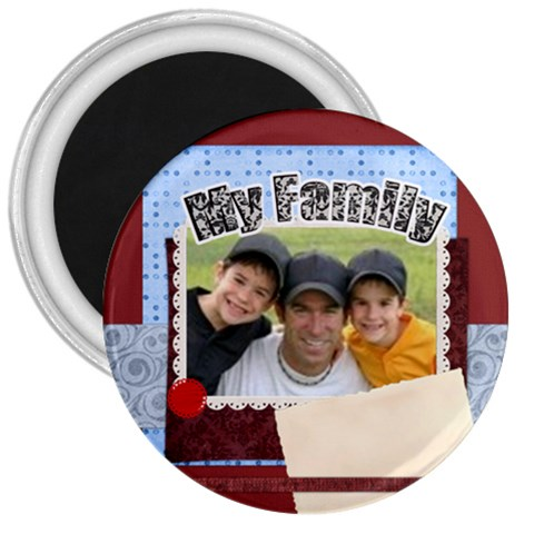My Family By Joely   3  Magnet   D0perr4bab6d   Www Artscow Com Front