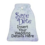 Save the Date Wedding Ornament Double Sided - Bell Ornament (Two Sides)