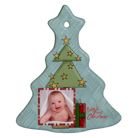 Baby s First Christmas Single Sided Tree Ornament By Catvinnat   Ornament (christmas Tree)    Ntn1rztrjcvq   Www Artscow Com Front