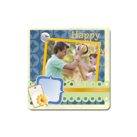 Dad  By Joely   Magnet (square)   5gk8o54s8csv   Www Artscow Com Front
