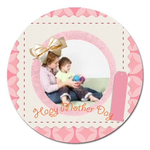 Mother By Joely   Magnet 5  (round)   L0zg4albrdbi   Www Artscow Com Front