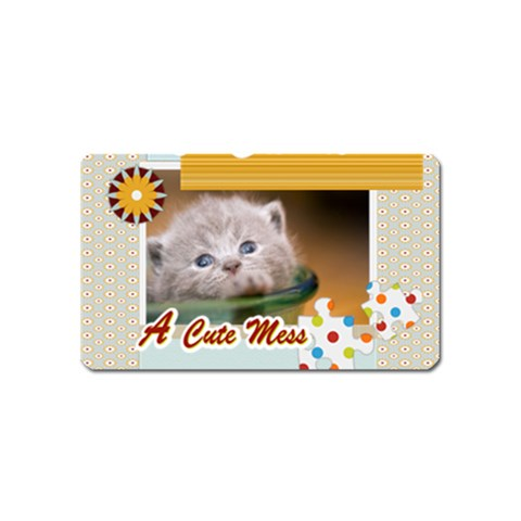 A Cute Mess By Joely   Magnet (name Card)   Xksohk4wupx6   Www Artscow Com Front