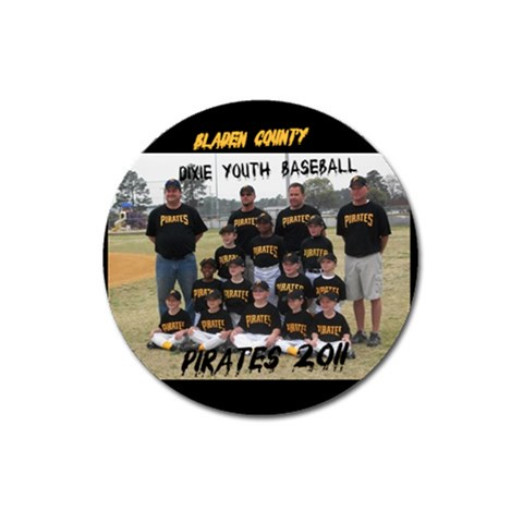 Connor s Baseball By Teresa Kinlaw   Magnet 3  (round)   Dbuj0edwoni3   Www Artscow Com Front