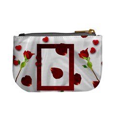 Roses And Hearts Mini Coin Purse By Kim Blair   Mini Coin Purse   Fafavvkhl5mb   Www Artscow Com Back