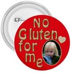 No Gluten Button - 3  Button