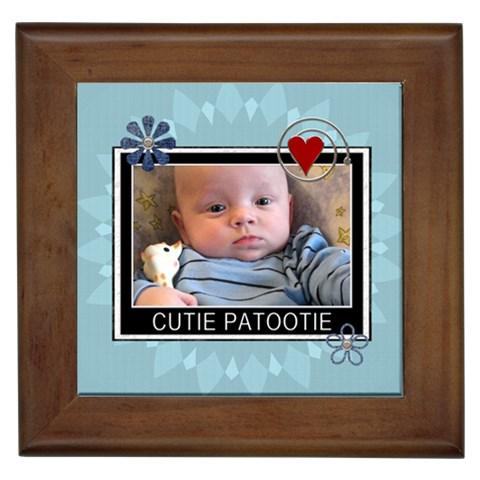 Cutie Patootie Framed Tile By Lil    Framed Tile   M8r2sodpuz8j   Www Artscow Com Front