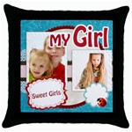my girl - Throw Pillow Case (Black)