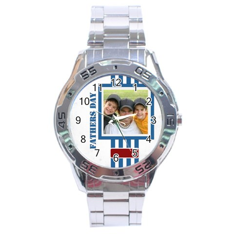 Fathers Day By Joely   Stainless Steel Analogue Watch   Iyu09yatbe4k   Www Artscow Com Front