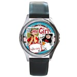 my girls - Round Metal Watch