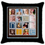 kids collection - Throw Pillow Case (Black)
