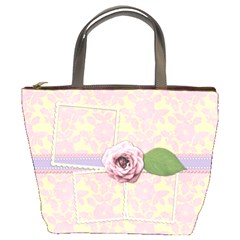 Flower Love Bag By Shelly   Bucket Bag   Wv0019pjs76w   Www Artscow Com Front