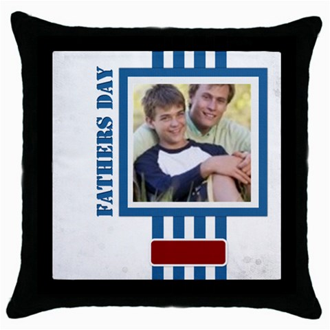 Fathers Day By Joely   Throw Pillow Case (black)   Cfs2c8he28bd   Www Artscow Com Front