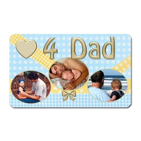 Love For Dad By Deborah   Magnet (rectangular)   Fuhdiuokua91   Www Artscow Com Front