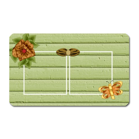 Tangerine Breeze Rectangle Magnet 1 By Lisa Minor   Magnet (rectangular)   007af64ky2mm   Www Artscow Com Front