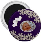 bliss round button magnet - 3  Magnet