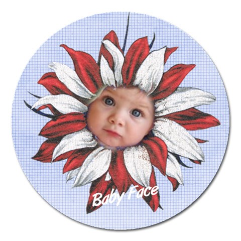 5  Magnet   Sunflower By Laurrie   Magnet 5  (round)   Mdklxjwgob33   Www Artscow Com Front