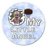 My Little Angel Boy Round 5 inch Magnet - Magnet 5  (Round)
