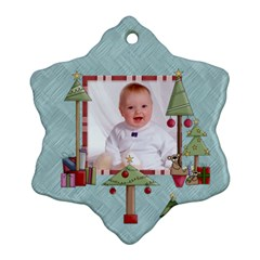 Baby s First Christmas Double Sided Snowflake Ornament By Catvinnat   Snowflake Ornament (two Sides)   Tu861il6arc8   Www Artscow Com Back