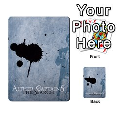 Aether Captains: The Search By Todd Sanders   Multi Purpose Cards (rectangle)   Tnpb4ewtz7af   Www Artscow Com Back 45