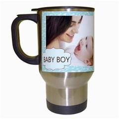 Baby Boy By Joely   Travel Mug (white)   T8okxxnaa48v   Www Artscow Com Left