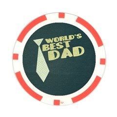 World s Best Dad/father Poker Chip By Mikki   Poker Chip Card Guard   Kv9jt2osl7um   Www Artscow Com Front