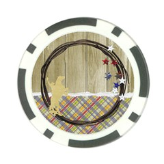 Cowboy/cowgirl Poker Chip By Mikki   Poker Chip Card Guard   Jcuo535dgei2   Www Artscow Com Back