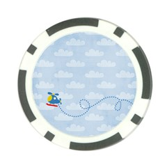 Lil Pilot Poker Chip By Mikki   Poker Chip Card Guard   0epsz3vj0rfx   Www Artscow Com Front