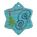 Merry Christmas - Snowflake Ornament (Two Sides)