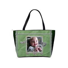 Green Diamond Studded Classic Shoulder Handbag By Lil    Classic Shoulder Handbag   P8nf73mzvxhw   Www Artscow Com Back