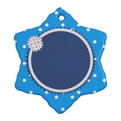 Little Snowflake By Daniela   Snowflake Ornament (two Sides)   6d4fdgw9om2p   Www Artscow Com Front