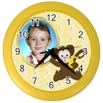 Monkey Clock - Color Wall Clock