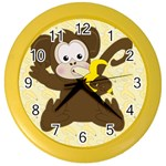 Monkey Clock 2 - Color Wall Clock