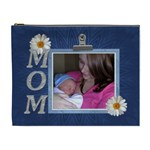 Mom Blue XL Cosmetic Bag - Cosmetic Bag (XL)