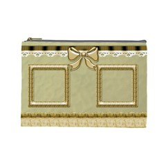 The Little Gold Cosmetic Bag (large) By Deborah   Cosmetic Bag (large)   6jbwmcowafbd   Www Artscow Com Front